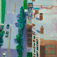Oil painting 22nd story view by Madeline Shea