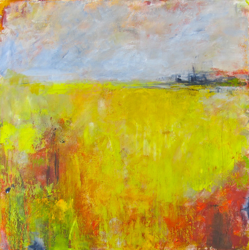 Acrylic painting In The Fields Of Gold by Laura Spring
