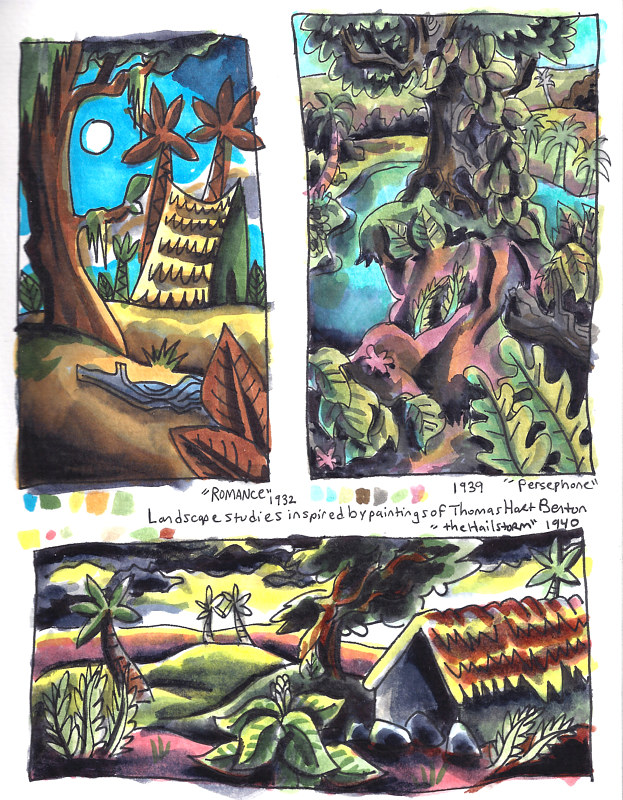 9-15/9-25-16 Watercolor Sketchbook Pg 5 by Kenneth M Ruzic