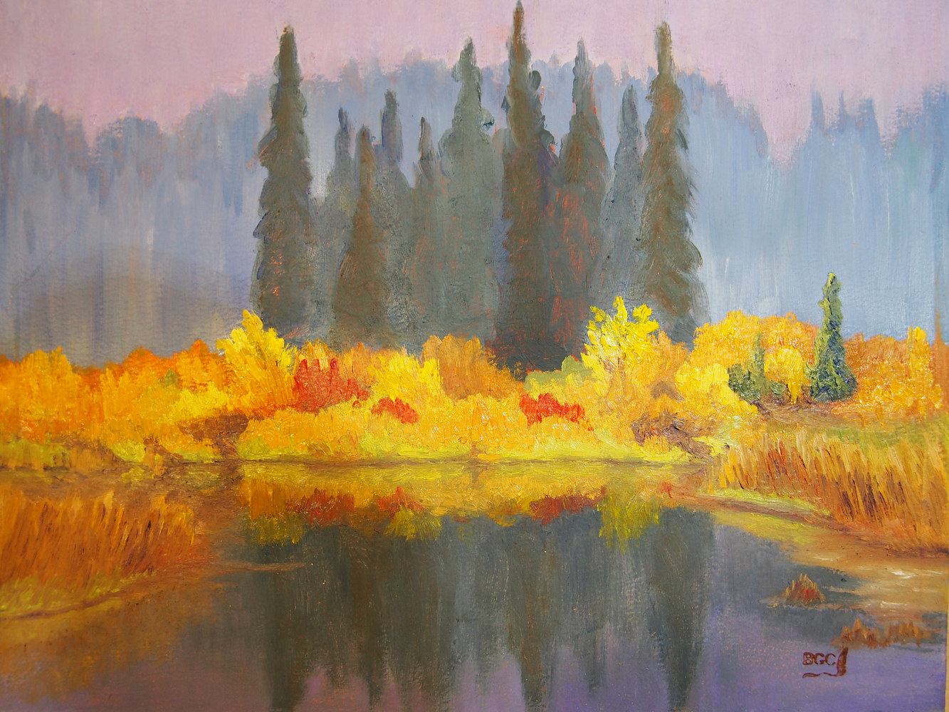Oil painting Edge of the Pond by Brent Ciccone