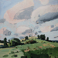 Acrylic painting October 5, Little Hill by Harry Stooshinoff