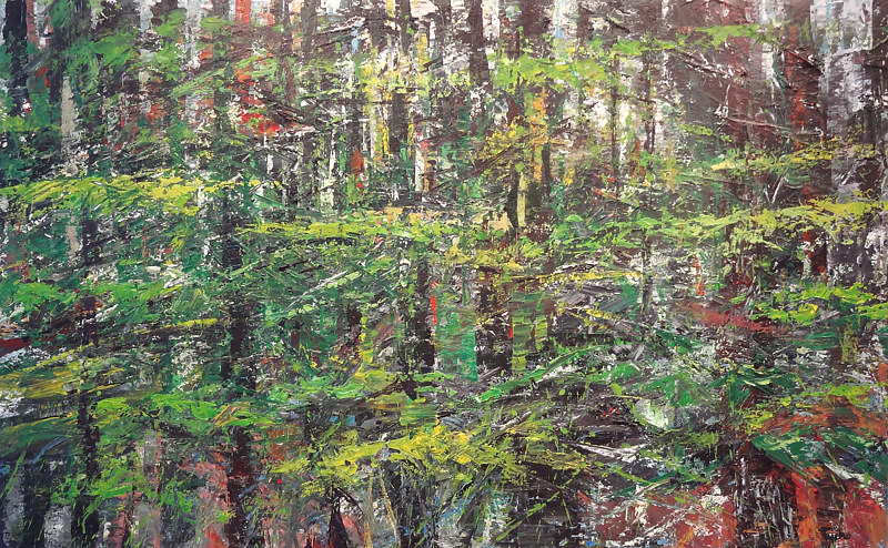 Acrylic painting Forest Rhythms No. 2 by David Tycho