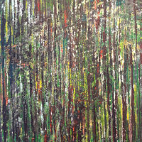 Acrylic painting Forest Rhythms No. 1 by David Tycho