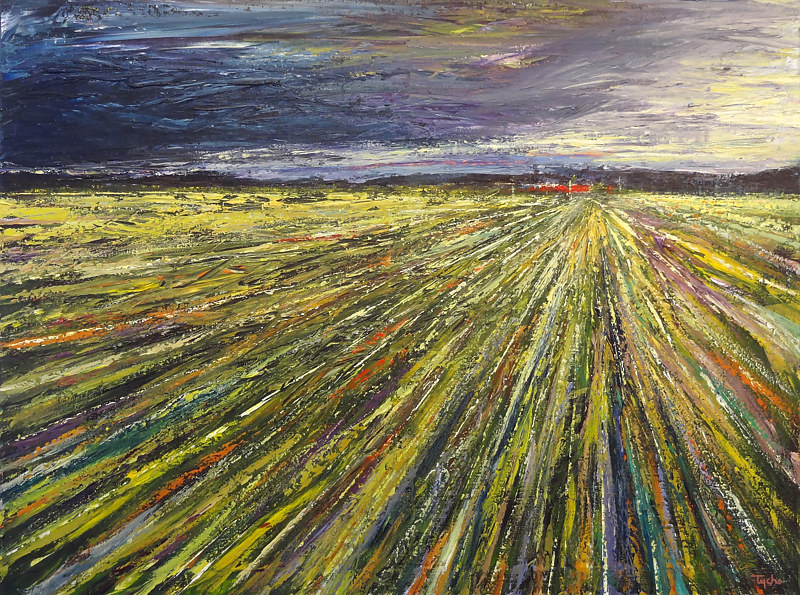 Acrylic painting Prairie Rhapsody No. 1 by David Tycho