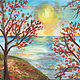 Acrylic painting Fall Colors  by June Long-schuman