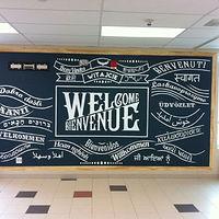 Painting Welcome Wall Mural - Nobleton P.S. by Cindy Scaife