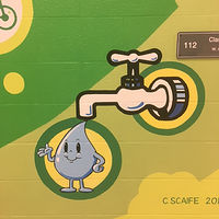 "Adrienne Clarkson P.S. - Eco Mural ""Soyez Vert"" - Detail - Water Conservation by Cindy Scaife"