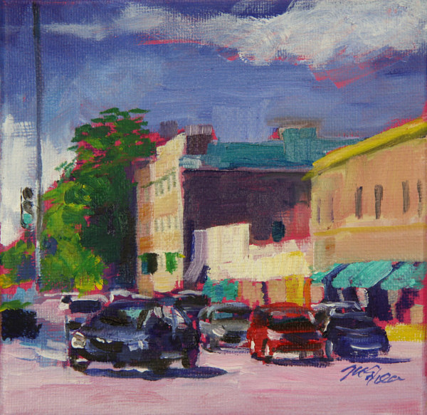 Oil painting fullerton at halsted  by Madeline Shea