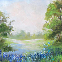 Painting Texas  Blue Bonnets  by Barbara Haviland