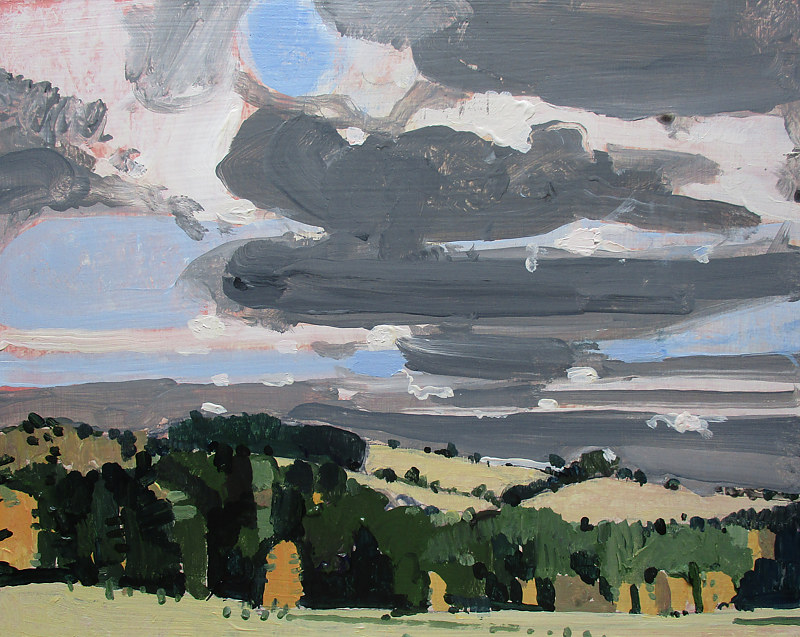 Acrylic painting South Sky, October 16 by Harry Stooshinoff