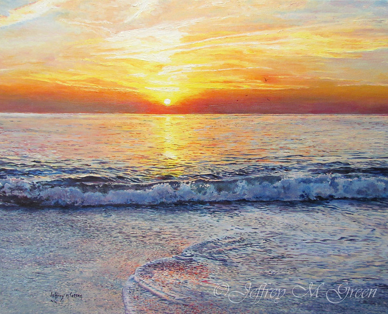 """Atlantic Morning"", 16x20"", oils on canvas. by Jeffrey Green"