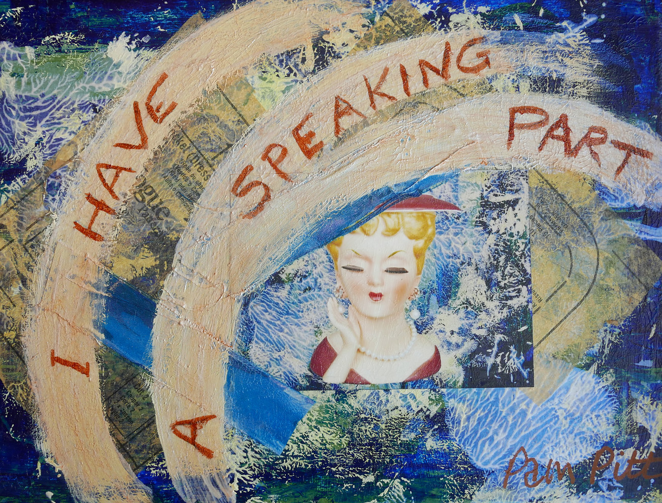 I Have a Speaking Part 12x16 by Pamela Pitt
