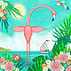 F is for Flamingo by Valerie Lesiak