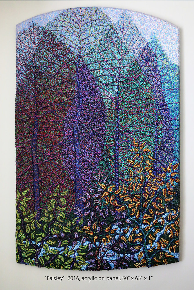 Acrylic painting Paisley by Douglas Moulden