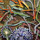 "detail, ""Globe Thistle"" by Douglas Moulden"