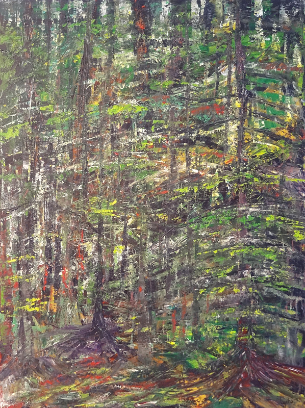 Acrylic painting Forest Rhythms No. 4 by David Tycho