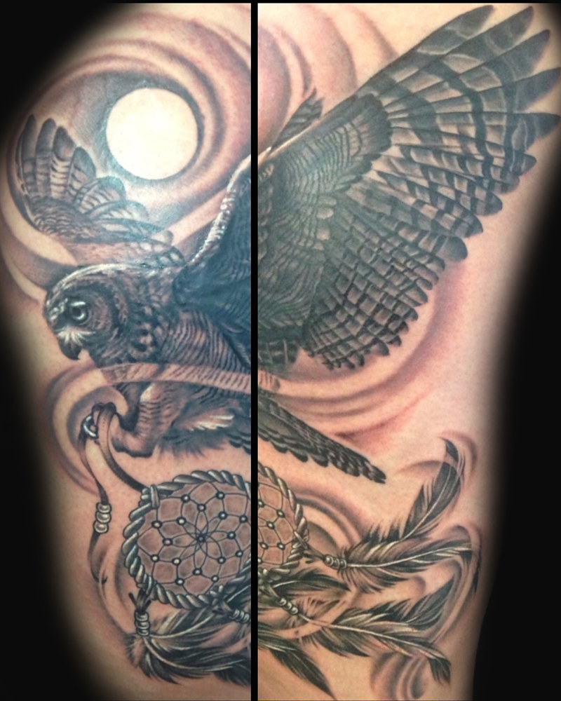 Owl and Dreamcatcher Kelowna B.C. by Erin  Burge