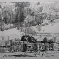 Drawing 10 Saved Acres, October 24 by Harry Stooshinoff