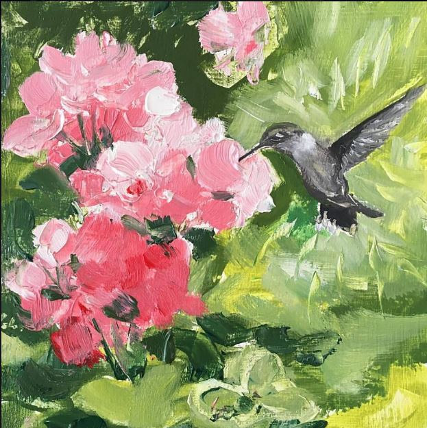 Color Study with Hummingbird by Ginger Arthur