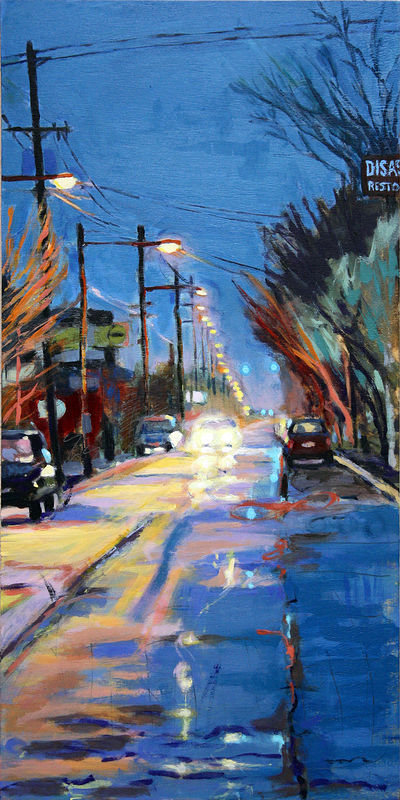Oil painting Division Electric by Shawn Demarest