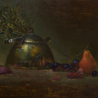 Oil painting Pear by Julie Gladstone