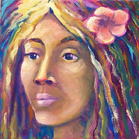 Oil painting Boho Girl Original Painting by Pamela Neswald