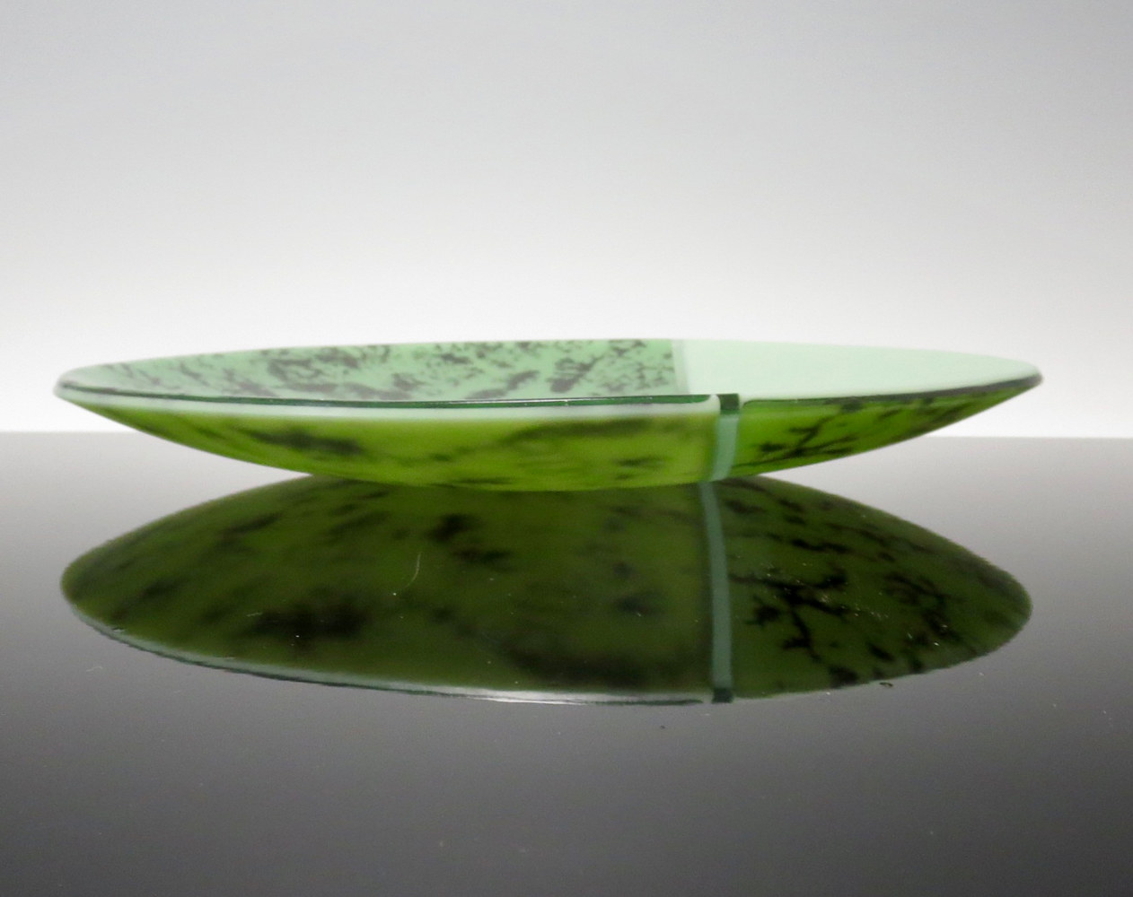 Kiln-formed Glass, Fractal Series, Green by Claudia Whitten