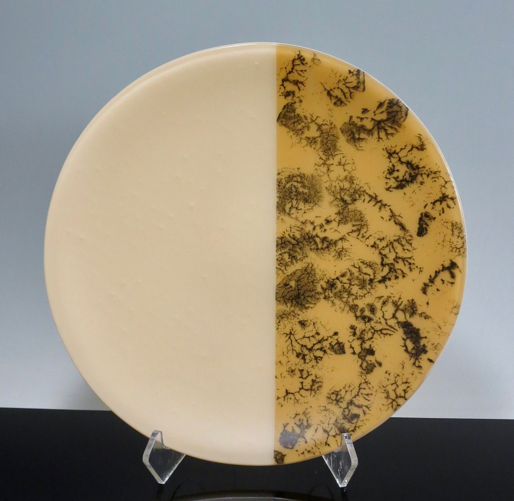 Kiln-formed Glass, Fractal Series, Almond by Claudia Whitten
