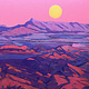 Oil painting Flinders Ranges Sunset  by Guntis Jansons