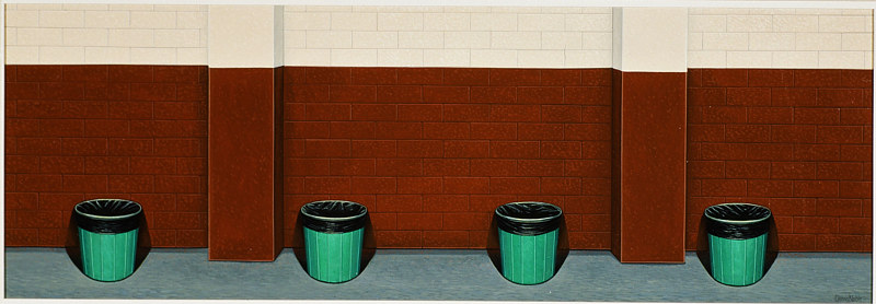 Garbage Cans by Adrienne Noble