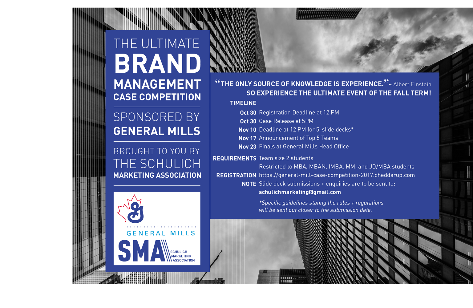 Advertisement for the General Mill Case Competition by Brooke Allen