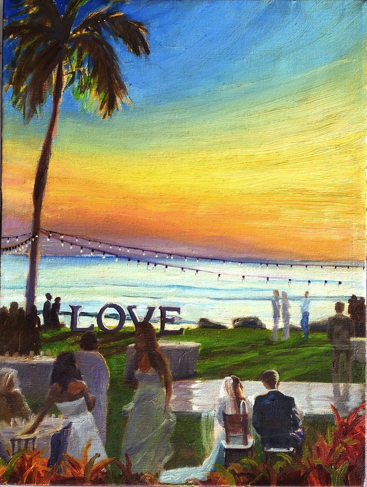 Maui Wedding Event Painting (image is sample) by Pamela Neswald