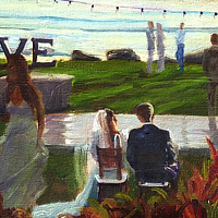 Painting Custom Wedding Event Painting (image is sample) by Pamela Neswald