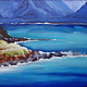Oil painting Ho'okipa Bluetiful by Pamela Neswald