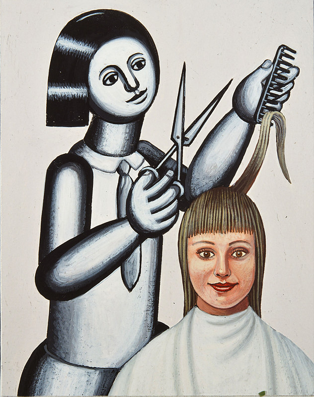 Hairdresser by Adrienne Noble