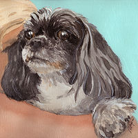 Acrylic painting Maggie by Reed Dixon
