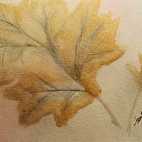 Watercolor Autumn Leaves by Jan Wirth