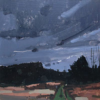 Acrylic painting Return at Dusk by Harry Stooshinoff