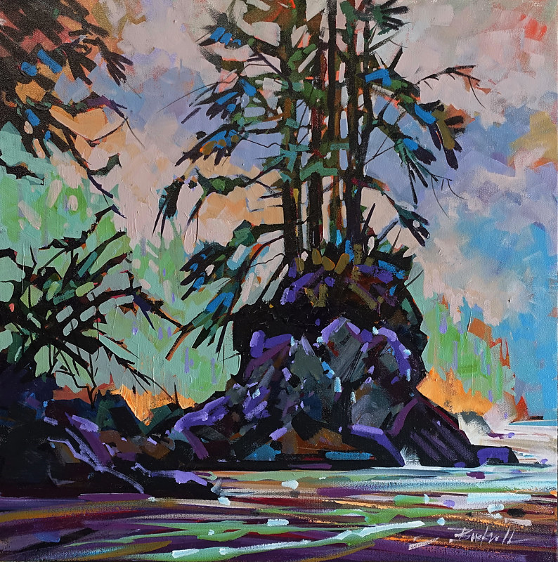 Rocks on the Trail   Acrylic 24x24  2017 by Brian  Buckrell