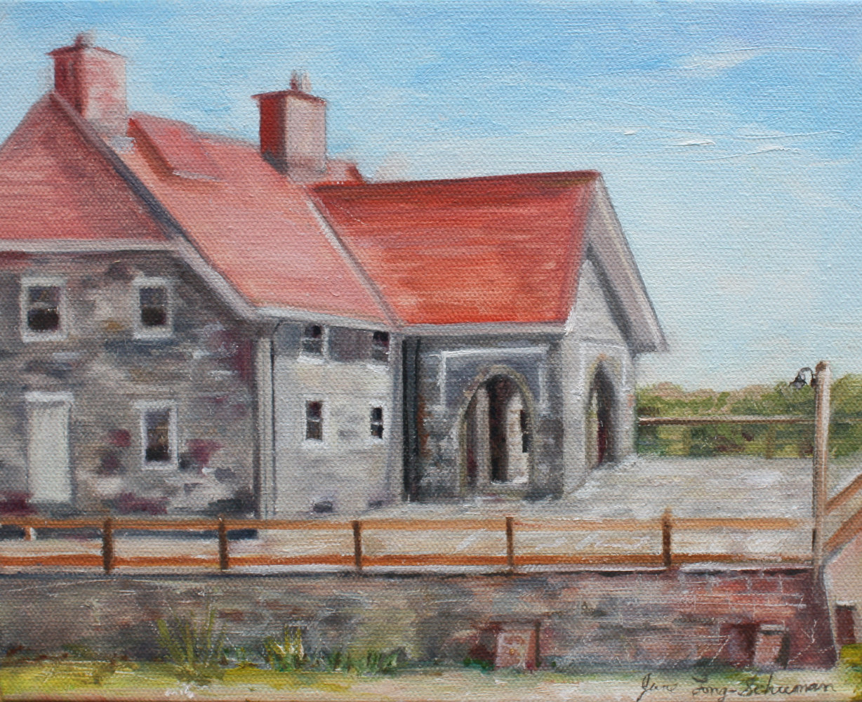 Oil painting Keepers Quarters by June Long-schuman