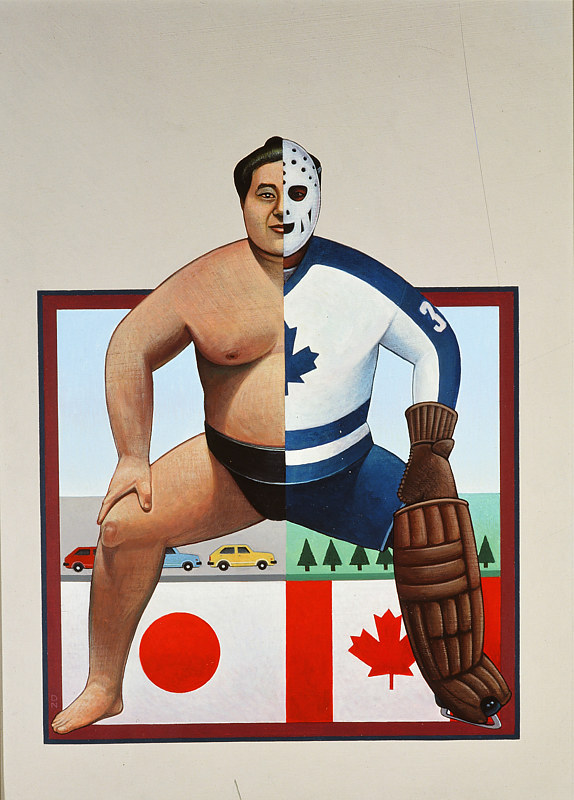 Canada vs Japan by Adrienne Noble