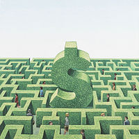 Financial Maze by Adrienne Noble