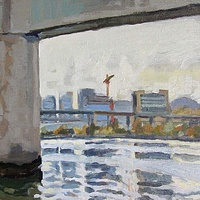 Oil painting Flat Light Willamette by Shawn Demarest