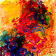 Acrylic painting Fire Bird by Skai Fowler