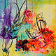 Acrylic painting Loves Passion, Electric by Skai Fowler