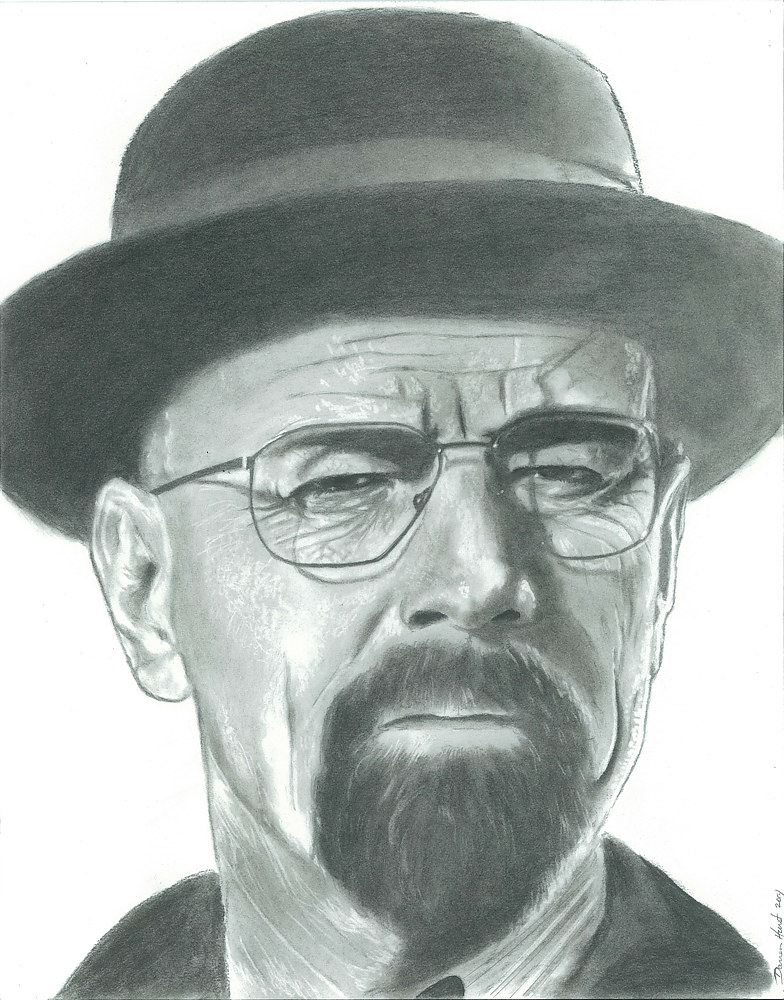 Drawing Walter White by Darren Hurst