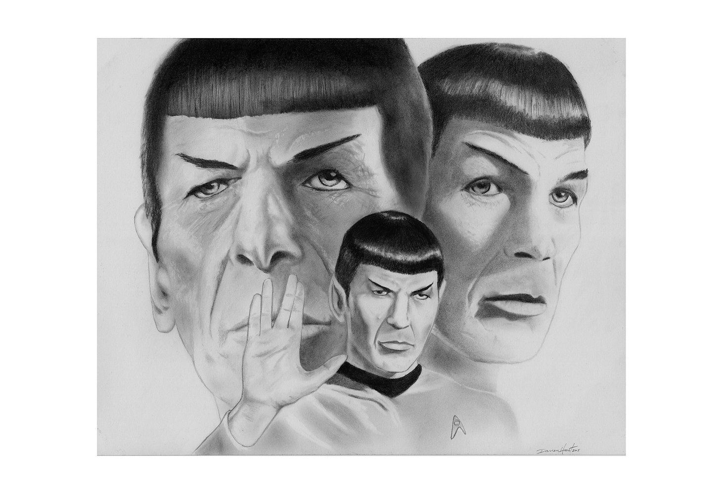 Drawing Spock by Darren Hurst