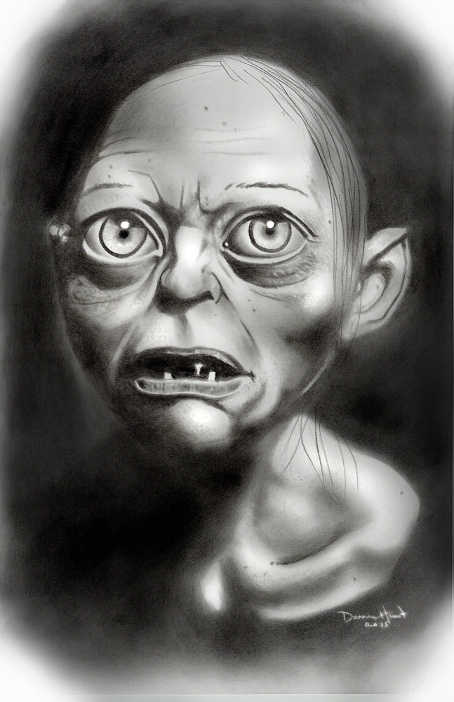 Drawing Gollum by Darren Hurst