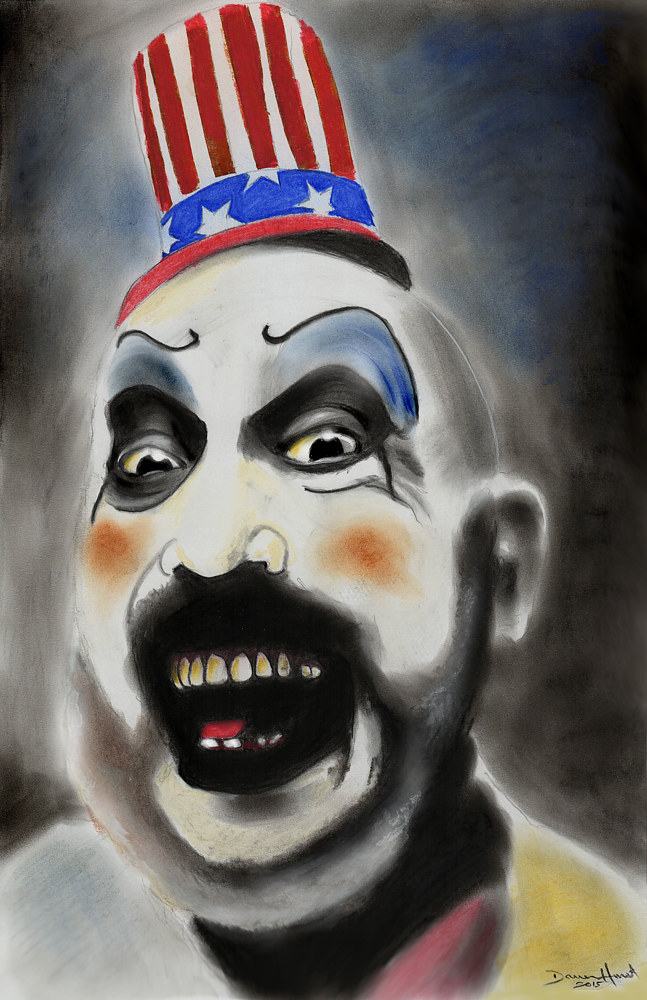 Drawing Captain Spaulding by Darren Hurst