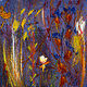 Acrylic painting Garden Delight 16x16 ________(click on the i for info) by Edward Bock